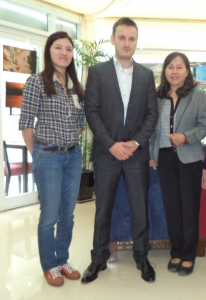 Thuc Vy, and Duong Thi Tan with Jean-Philippe Gavois (French Embassy)